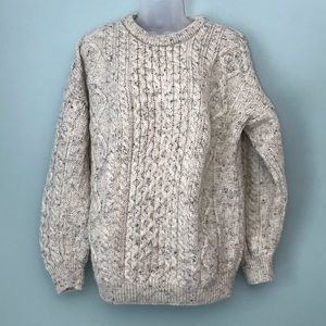 Vintage Chunky Knit Wool Sweater Size XL